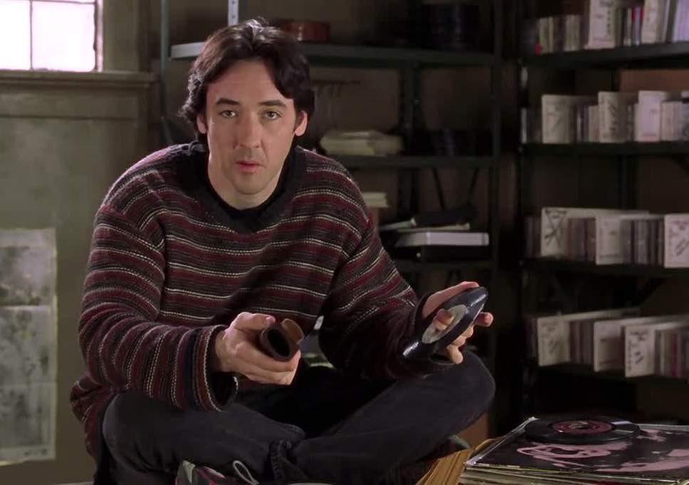 John Cusack in the original High Fidelity movie, 2000